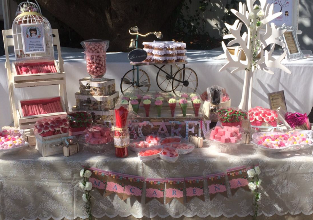 Candy bar Comunión en La linea (flexo) un sitio lleno de magia